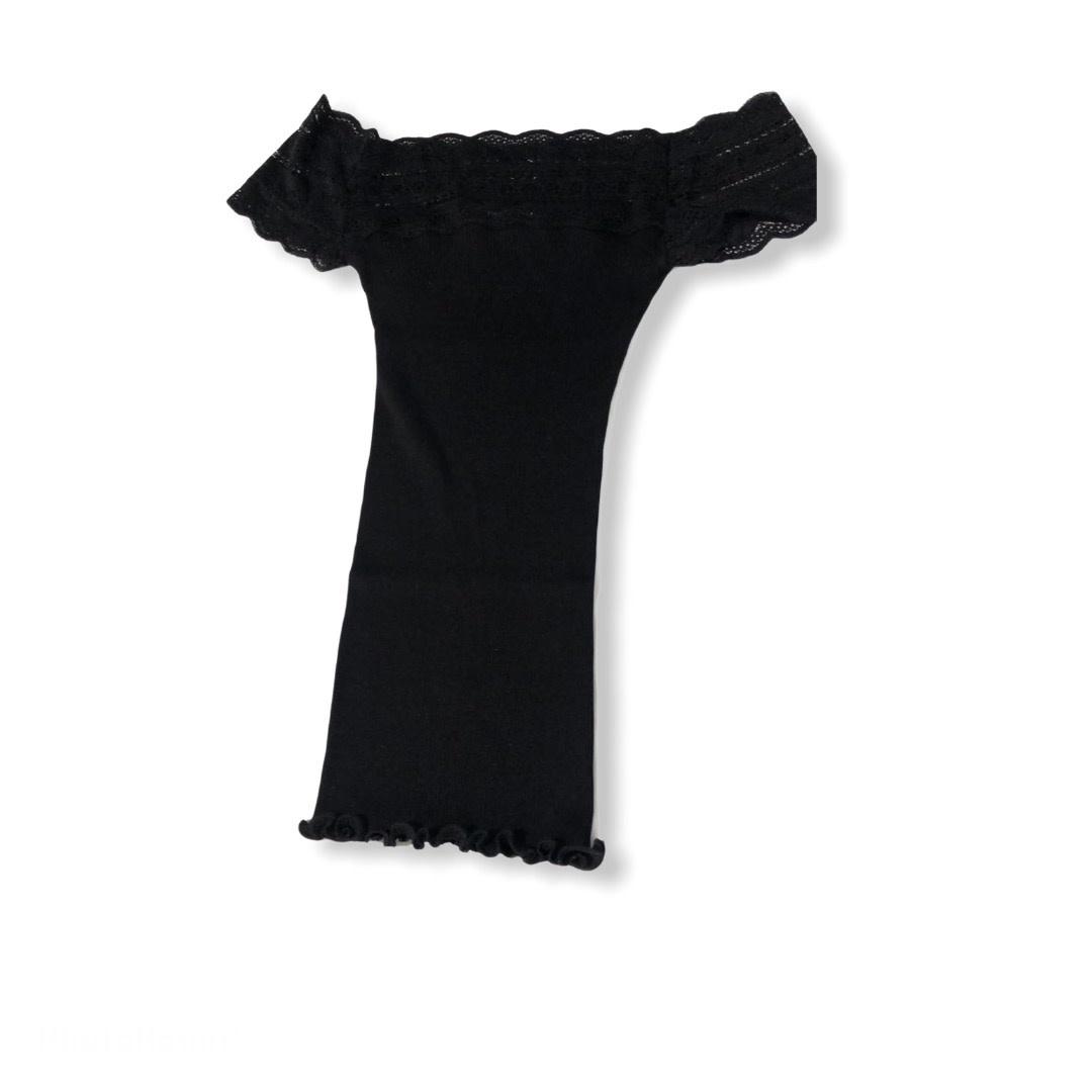 Rosemunde S/S silk t-shirt regular wide lace Rosemunde