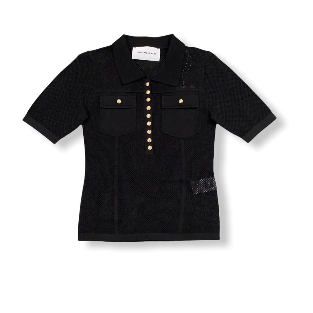 Silvian Heach S/S T-shirt Lisandro Black Silvian Heach