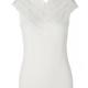 Rosemunde S/S Silk top regular wide lace white Rosemunde