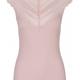 Rosemunde A/W Silk top regular w/ wide lace zephyr rose Rosemunde