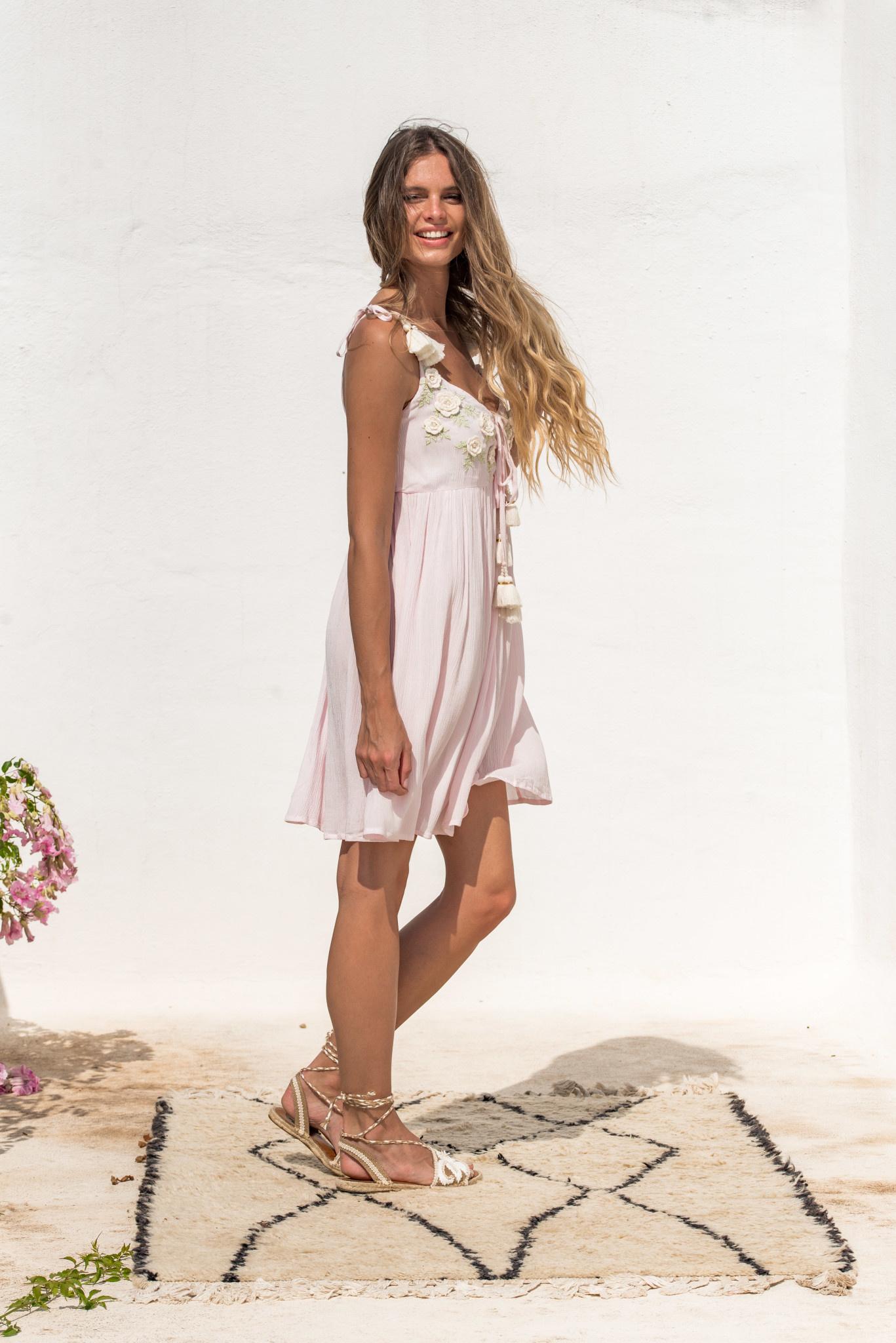 Piti Cuiti S/S Pink flower dress Piti Cuiti