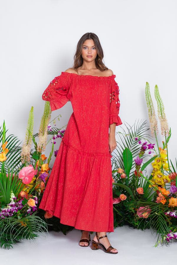 Sundress S/S Ornella Long Dress Pacific red Sundress