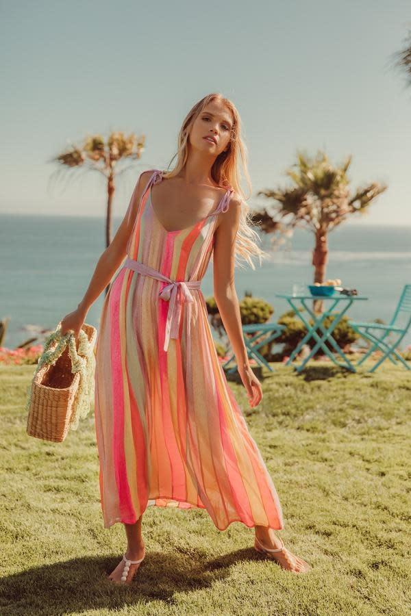 Sundress S/S Cary Long dress marbella mix rainbow Sundress