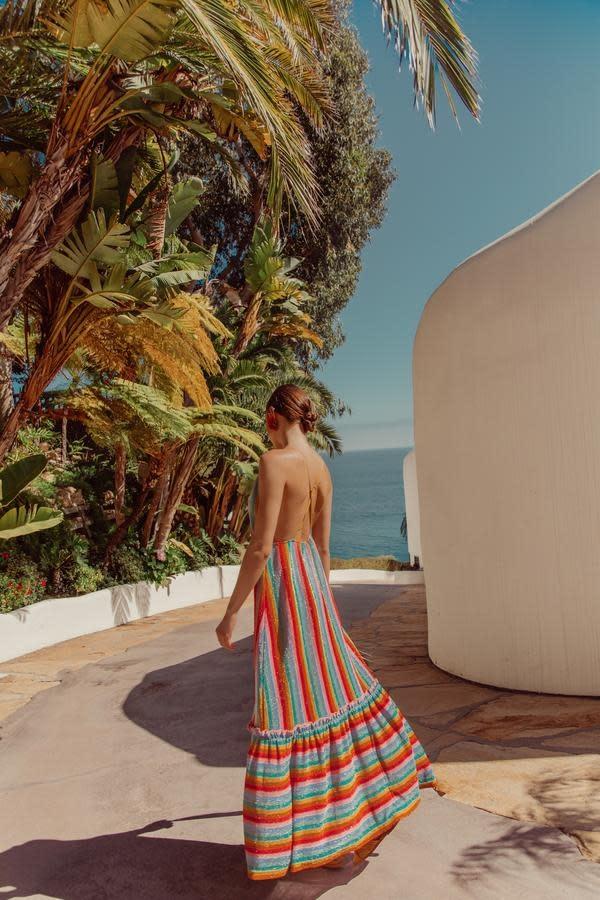 Sundress S/S Cirka long dress rainbow italian knit Sundress