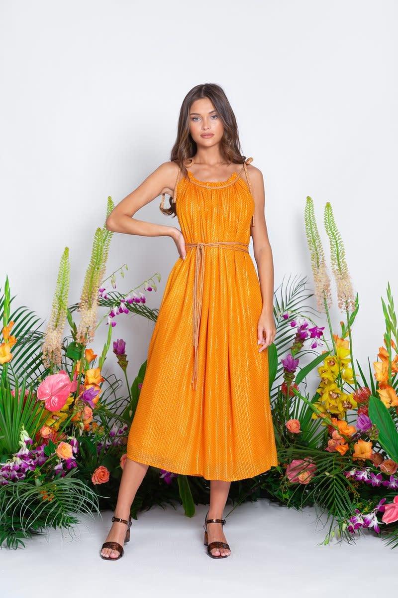 Sundress S/S Long Dress Barbara Le Cap Mandarine Sundress