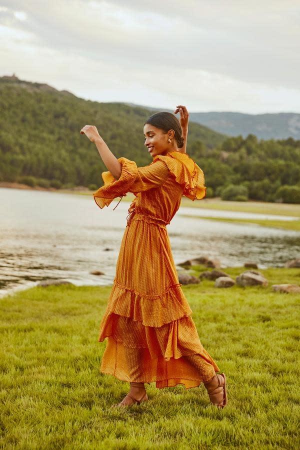 Sundress S/S Long Dress Dina Le Cap Mandarine Sundress