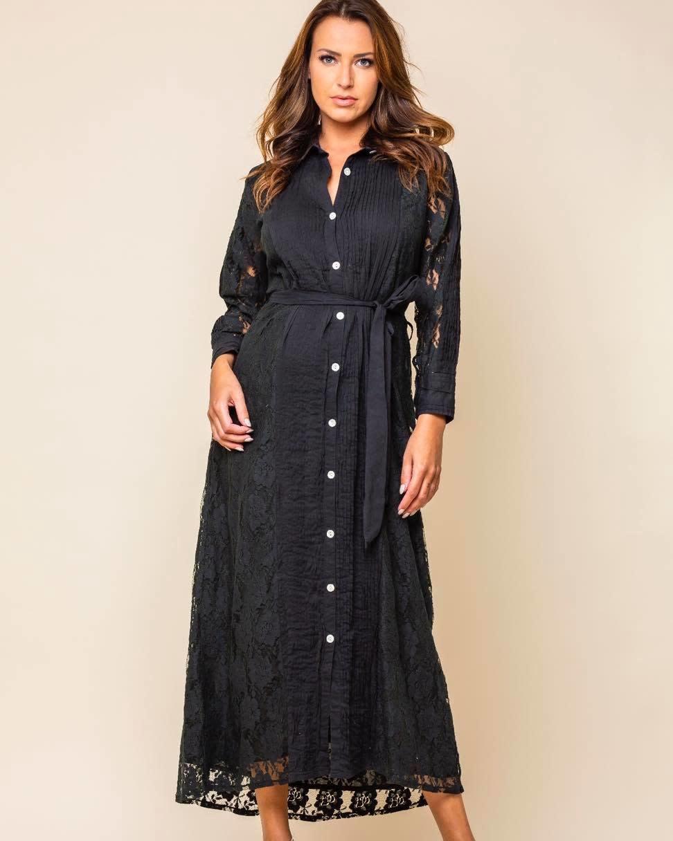Vintage Ibiza S/S Long dress black Vintage Ibiza