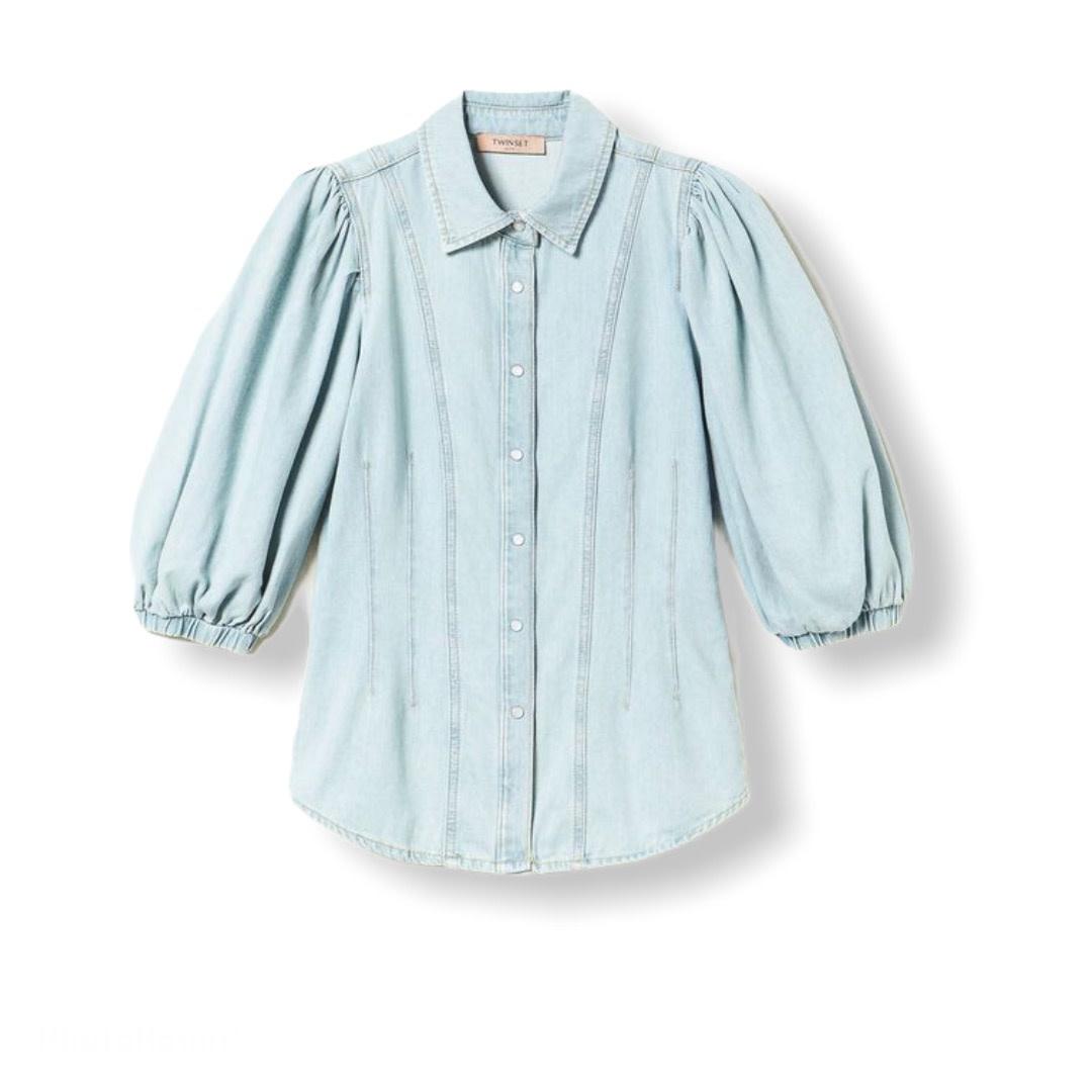 Twin-Set S/S Twin-Set denim blouse Chiaro