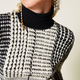 Twin-Set A/W PRINTED TURTLE NECK TWINSET
