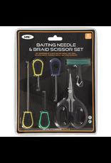 NGT NGT Baiting Needle & Braid Scissor Set