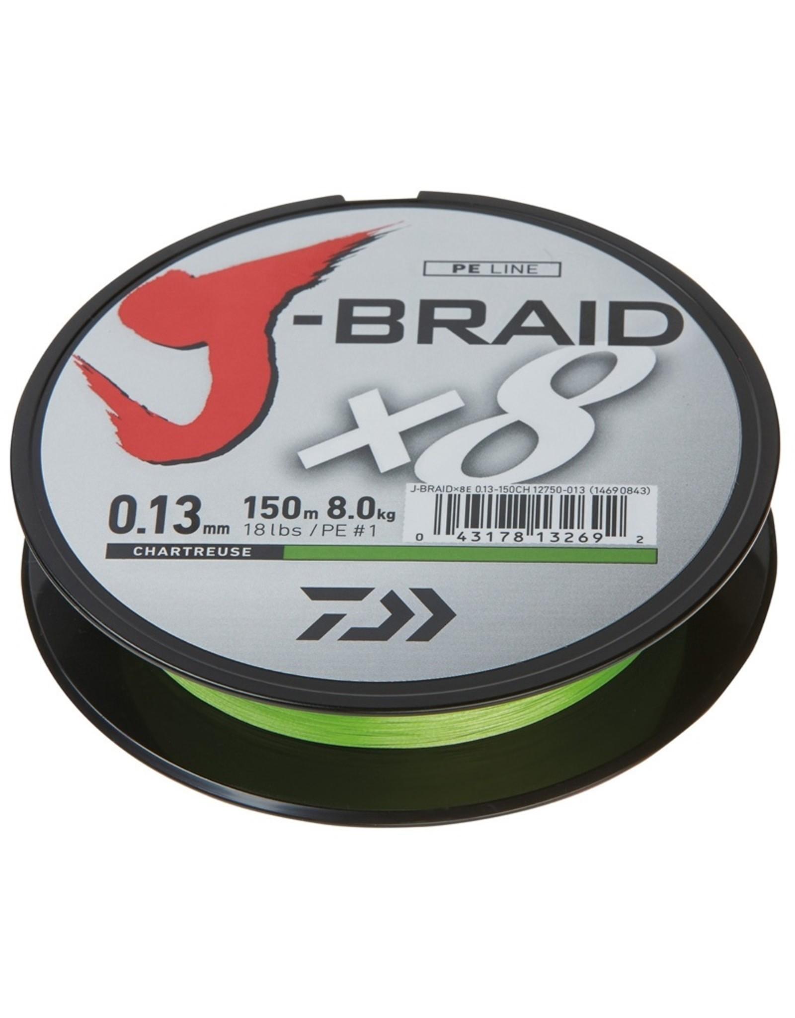 Daiwa Daiwa J Braid X8 150m Chartreuse