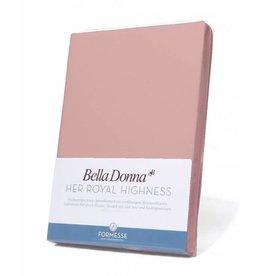 Bella Donna stretch hoeslaken - Oudroze