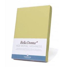 Bella Donna stretch hoeslaken - Limoen