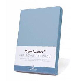 Bella Donna stretch hoeslaken - Lichtblauw