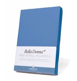 Bella Donna stretch hoeslaken - Azuur