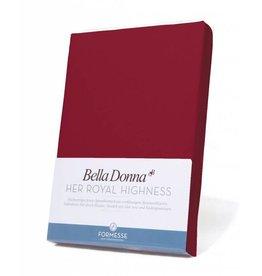 Bella Donna stretch hoeslaken - Karmijnrood