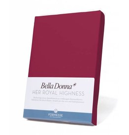 Bella Donna stretch hoeslaken - Bordeaux