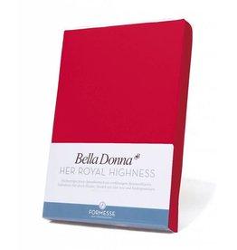 Bella Donna stretch hoeslaken - Rood
