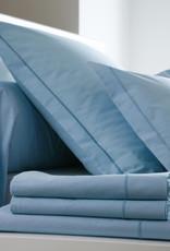 Blanc Des Vosges Katoen laken 'Bleu Ciel' 180/290