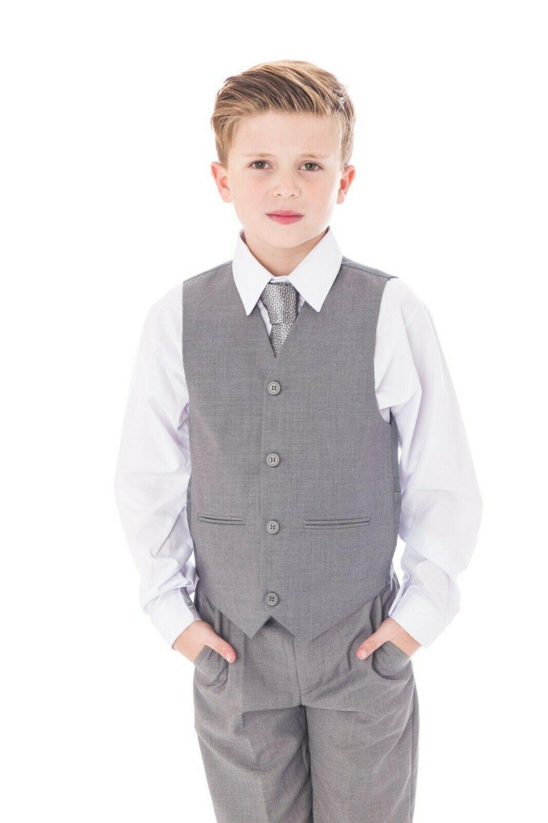 Jungen Anzug, 5-teilig, grau - Melli-Trends