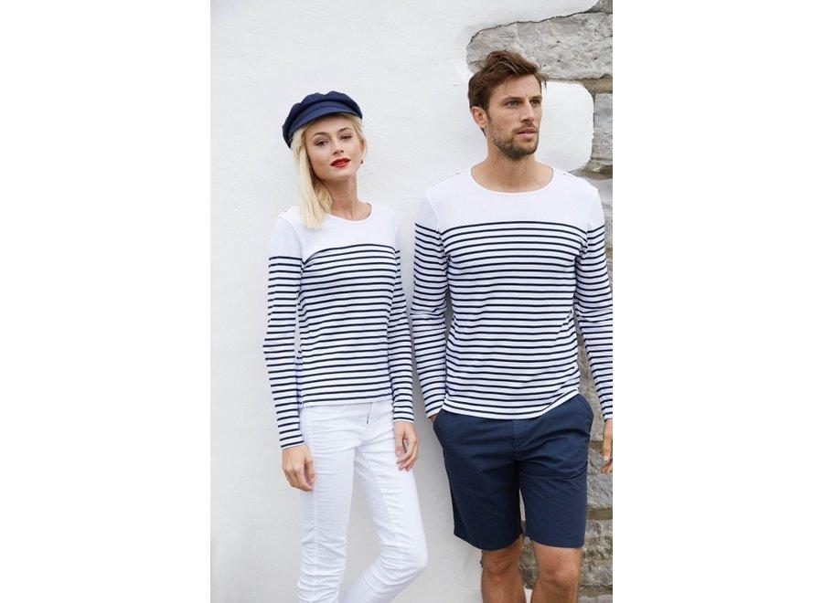 Shirt gestreept lange mouw navy dames