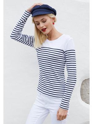 Kariban Shirt gestreept lange mouw navy dames