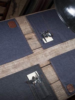 Schriks Placemats denim jeans of black denim-Jeans