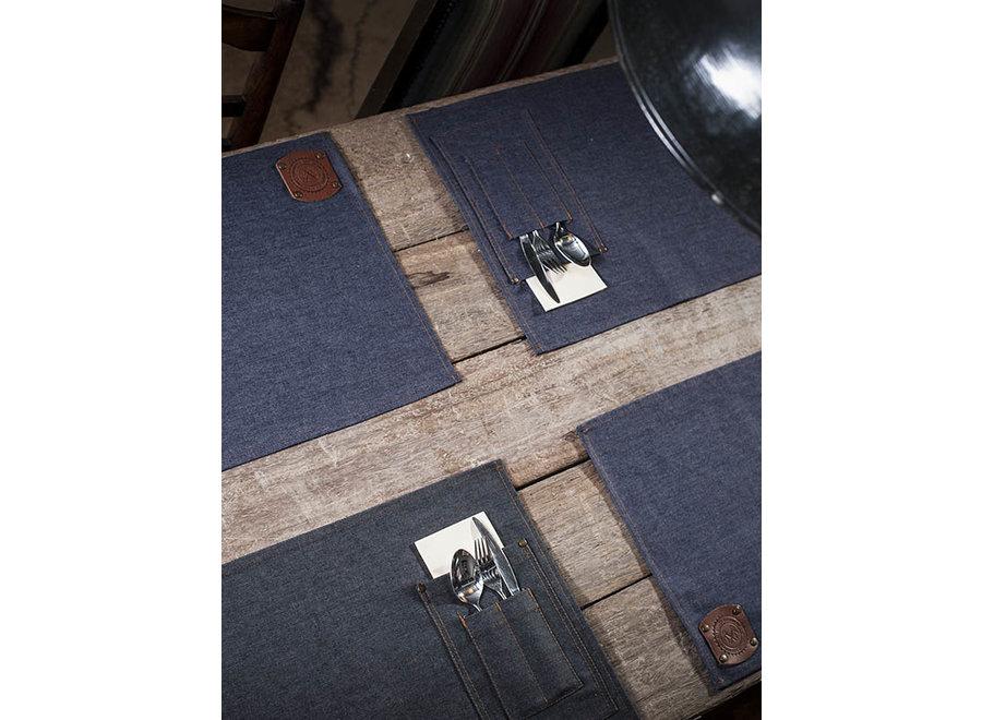 Placemats denim jeans of black denim-Jeans