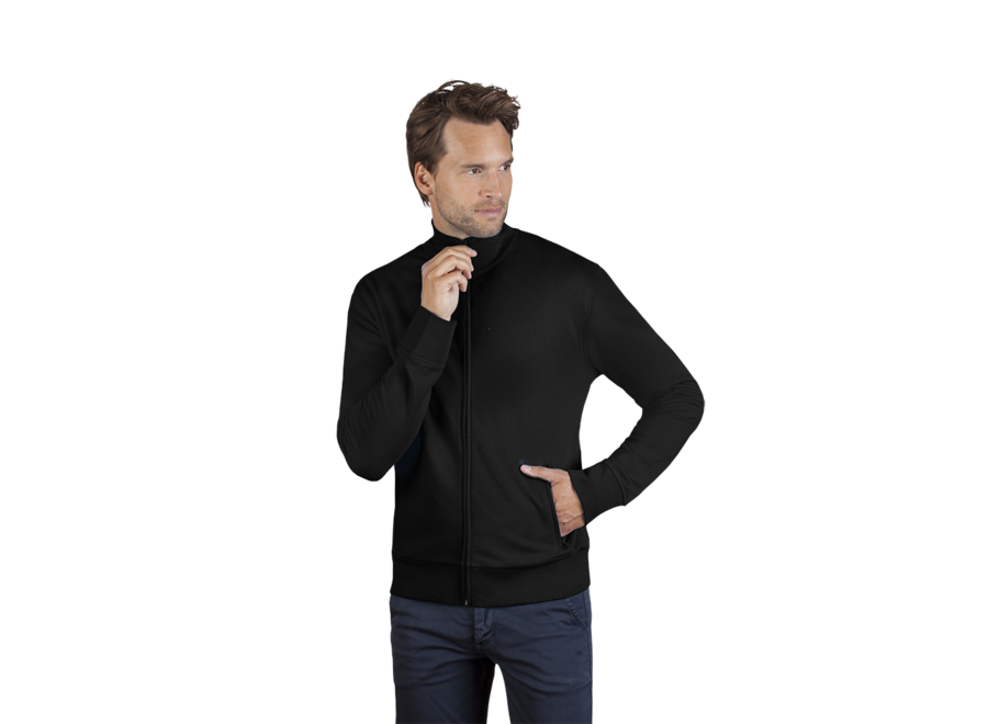 Vest heren met opstaande kraag sweatstof - 60 graden wasbaar