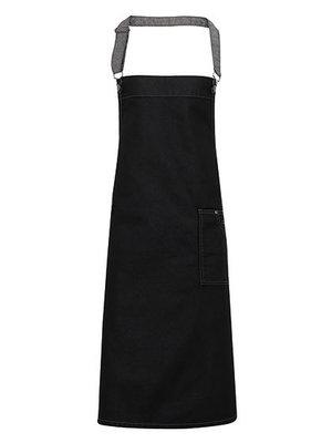 Premier Schort waxed jeanslook-Black denim