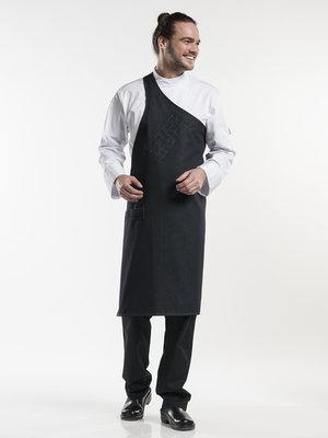 Chaud Devant Butcher schort-Black Denim B90 L100