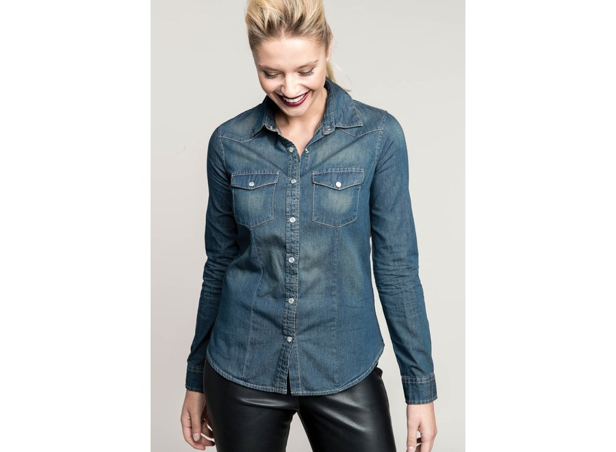 Overhemd Denim dames