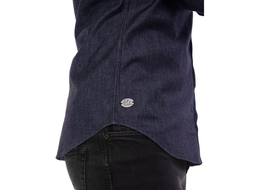Jeanshemd Perth stretch - grijs of blauw