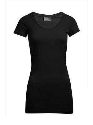 Promodoro Dames Slim Fit V-Neck-T-shirt extra lang - 6 kleuren