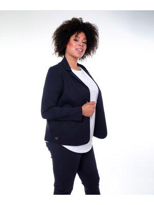 Company Fits Blazer Lucca stretch sweat zwart of blauw