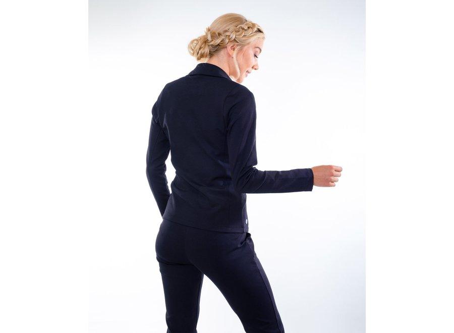 Blazer Lucca stretch sweat zwart of blauw