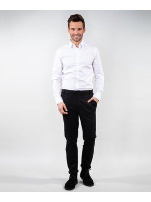 Company Fits Heren pantalon Cyprus stretch zwart of blauw