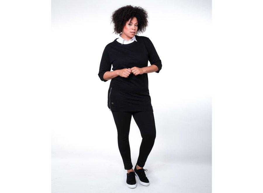 Dames sweatjurk Lima Zwart