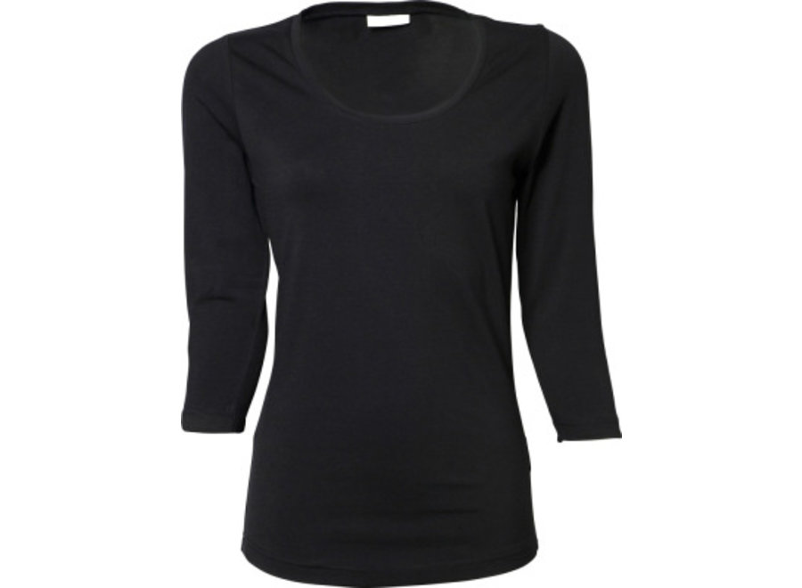 Long sleeve dames 3/4 mouw stretch