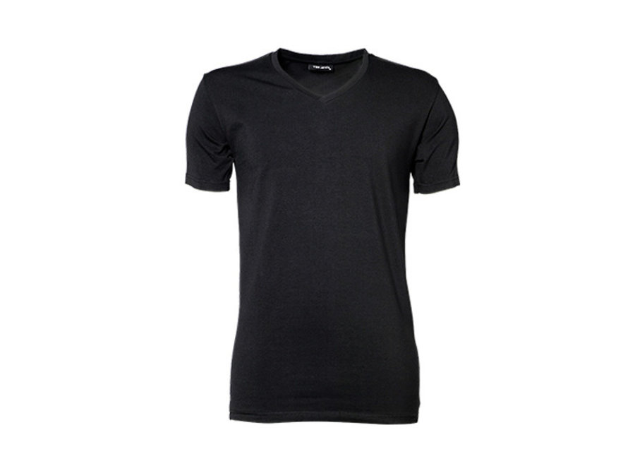 T-shirt heren stretch  v-hals katoen in 3 kleuren