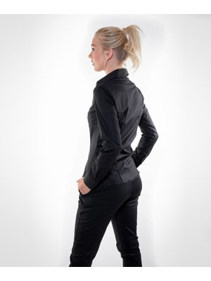 Company Fits Damesblouse Sofia zwart met stretch