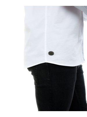 Company Fits Overhemd heren denver wit stretch