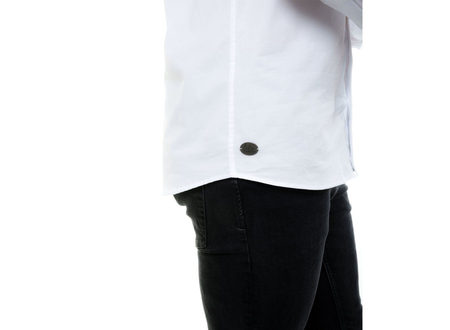 Overhemd heren denver wit stretch