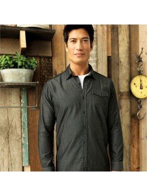 Premier Jeans stitch denim shirt heren