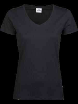 Teejays T-shirt v-hals biologisch katoen in 5 kleuren