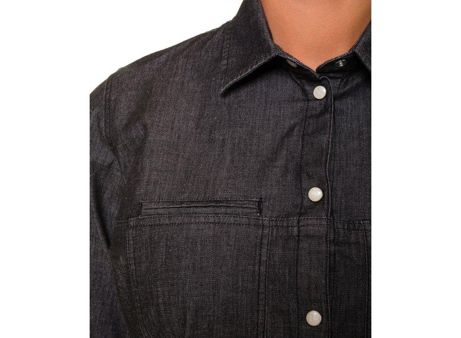 Spijkerblouse Fez stretch - grijs of blauw