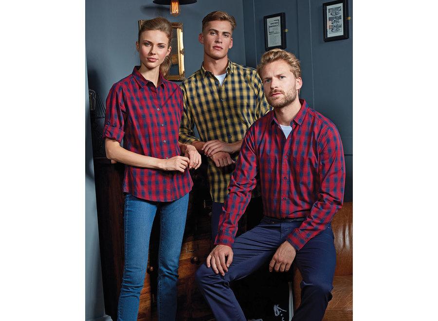 Geruite blouse heren  in 4 kleuren