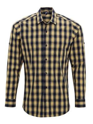 Premier Geruite blouse heren  in 4 kleuren