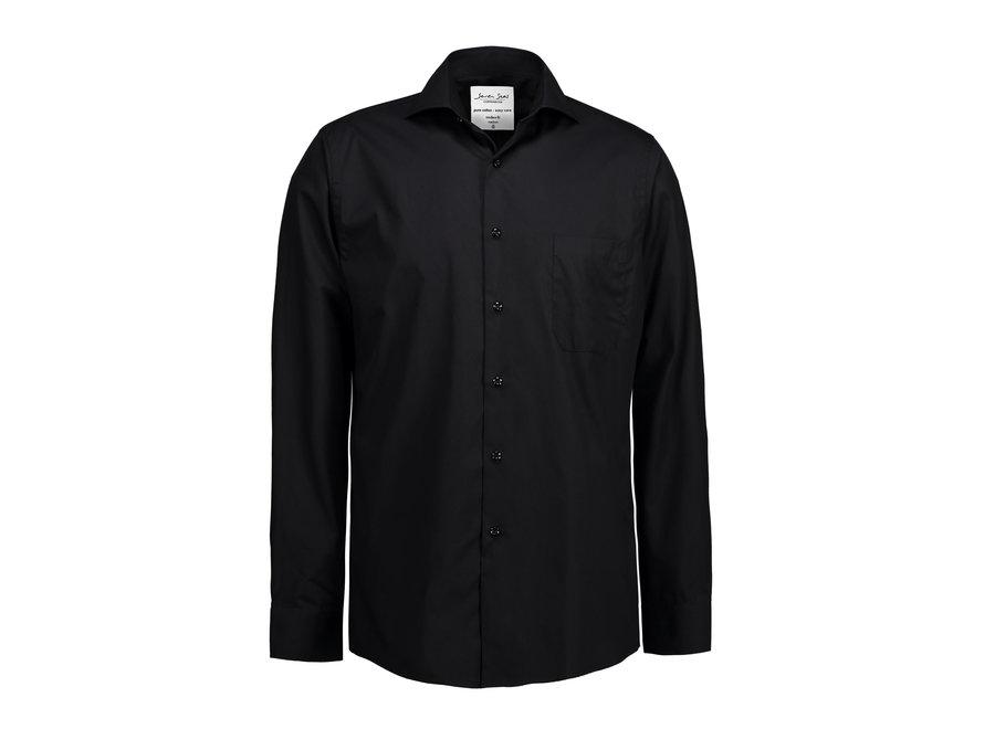 Overhemd heren easy care zwart
