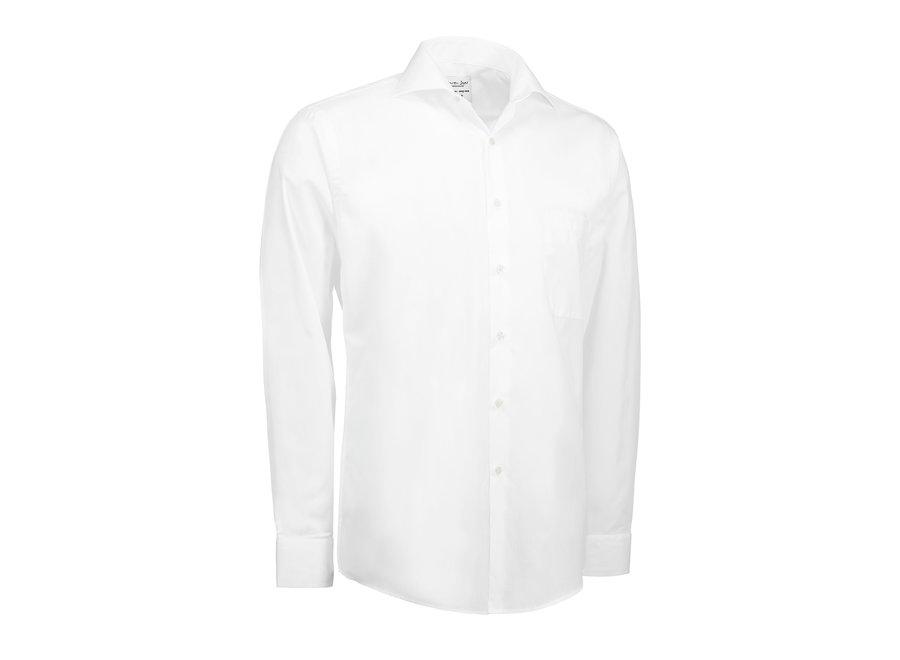 Overhemd heren easy care zwart wit